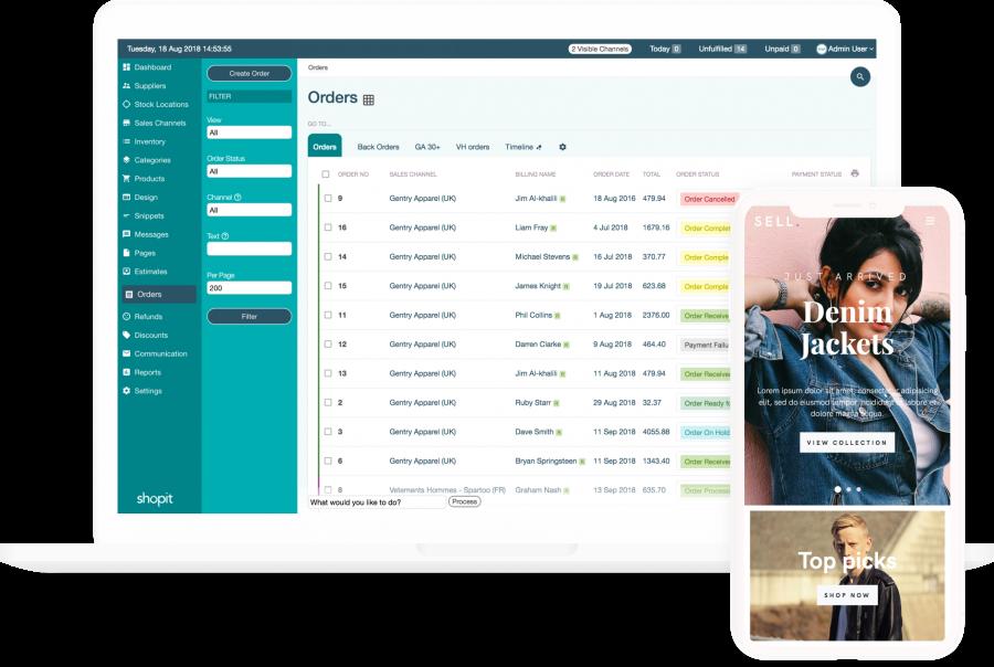Shopit eCommerce dashboard
